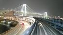 「ゆりかもめ」前面展望「夜景」(豊洲 - 新橋)全区間「7300系」[4K]Cab View Yurikamome Line Tokyo 20180401