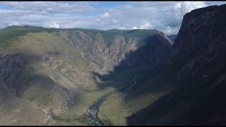 Республика Алтай. Перевал Кату Ярык. Водопад Куркуре. Река Чулышман.