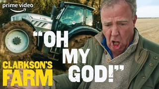 Jeremy Clarkson's Giant Tractor Causing Chaos for 7 Minutes   Clarkson's Farm   The Grand Tour