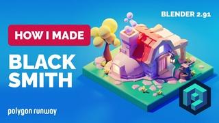 Blacksmith in Blender  - 3D Modeling Process | Polygon Runway