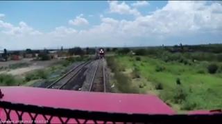 Vídeo y las imágenes de como quedaron las locomotoras accidentadas del accidente en Opal Zacatecas