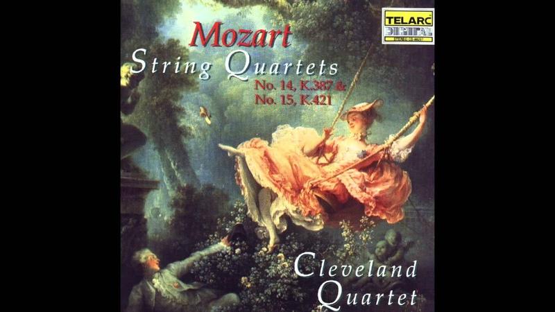 Cleveland Quartet Mozart String Quartet 15 in D Minor K 421