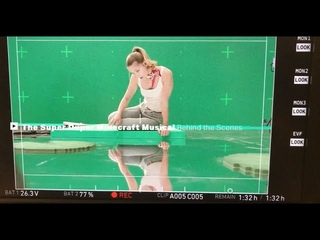 Melissa Benoist Making A Minecraft Musical BTS