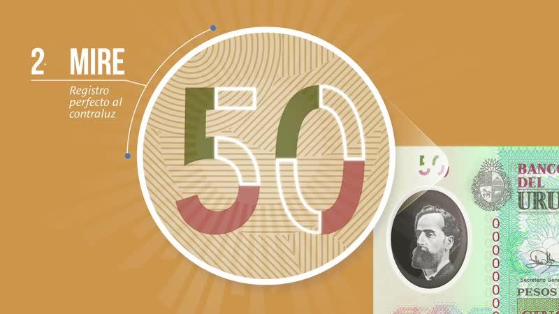 Уругвай новые банкноты 20 и 50 песо