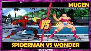 SpiderMan Vs Wonder Woman [Hard Fight] MUGEN CHAR