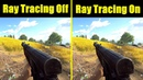Battlefield 5 DXR Ray Tracing On Vs Ray Tracing Off RTX 2080 TI Frame Rate Comparison