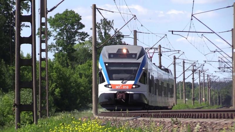 БЧ Электропоезд ЭПр 010 близ о п Седча BCh EPr 010 EMU near Sedcha stop