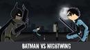 Stickman Fight - Бэтмен против Найтвинга. Анимация драки стикменов DC