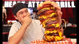 I Ate a 20,000cal Burger in Record Time!! **Octuple Bypass Challenge**