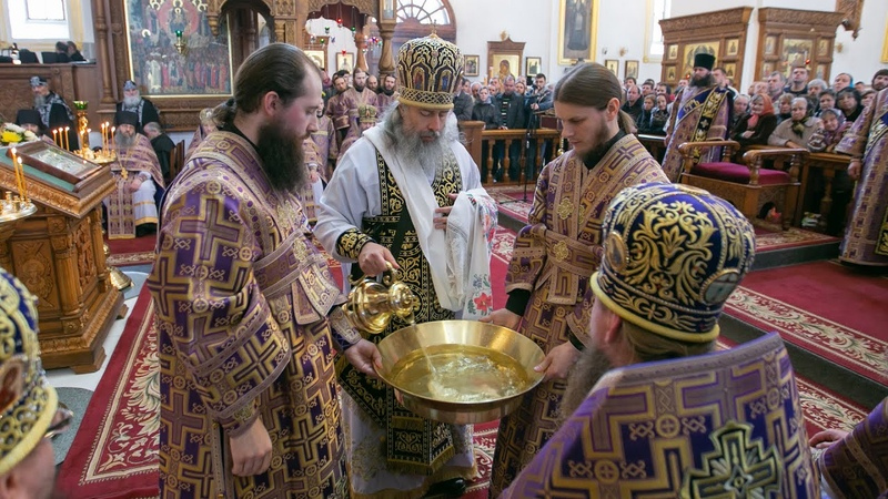 Чин умовения ног и слово митрополита Арсения в Великий Четверток 25 4 19 г