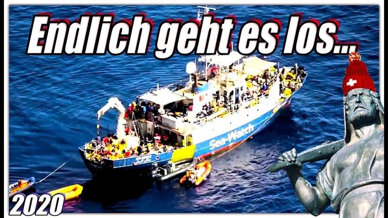 Endlich wird wieder gerettet Sea Watch 4 auf dem Weg nach Libyen