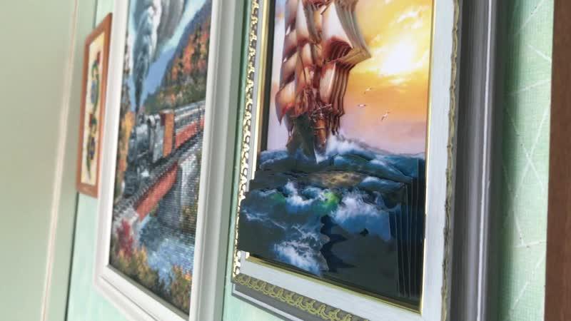 Картина На всех парусах Вид рукоделия Папертоль