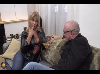 British Milf Miss Gabrielle Fox has sex with a dirty old man