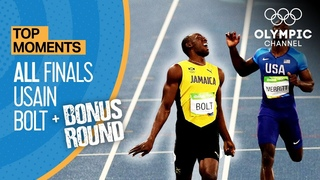 Usain Bolt   ALL Olympic finals + Bonus round   Top Moments