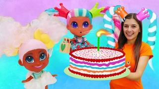 Новое видео про игры. День рождения для куклы Hairdorables. Классные игрушки девочкам.