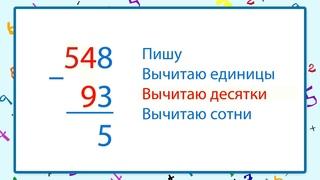 Алгоритм письменного сложения и вычитания  Видеоурок по математике 3 класс