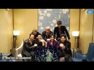 "[sapphire subteam] реакция super junior на клип ""one more time (otra vez)"" (рус.саб)"