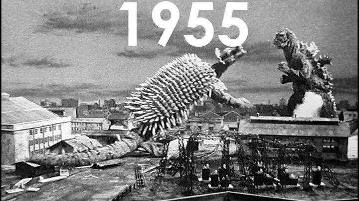 Эволюция Годзиллы 1954 2020