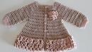 Crochet 12 How to crochet a baby girls cardigan