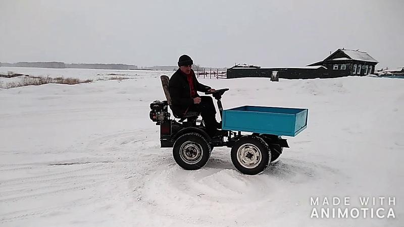 мини трактор переломка полный привод мини Т16