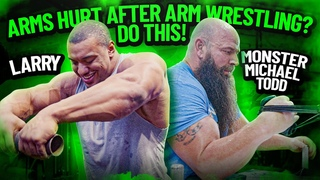 HOW TO STOP YOUR ARMS FROM HURTING AFTER ARM WRESTLING!