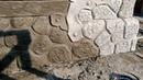 оформление цоколя дома, декоративный камень из арт бетона, дом рыбака.