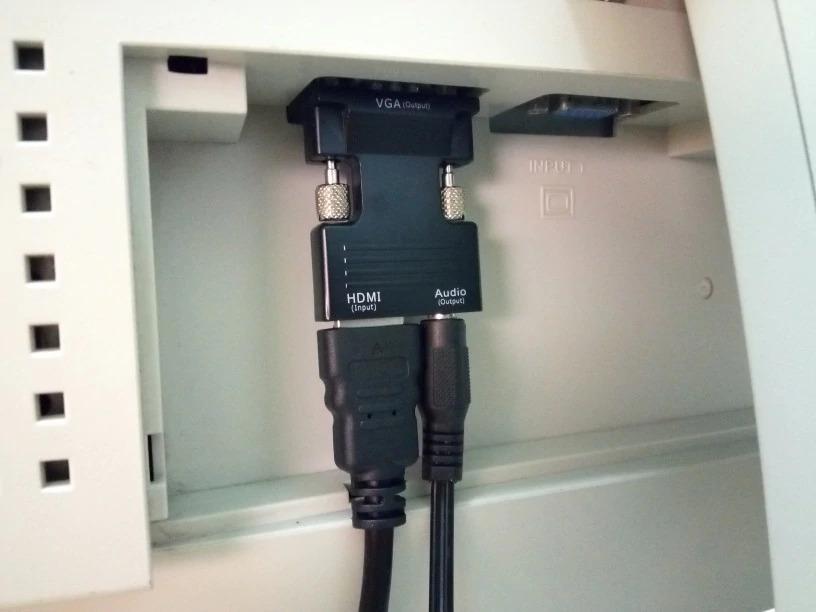 Переходник с HDMI на VGA с аудио выходом -