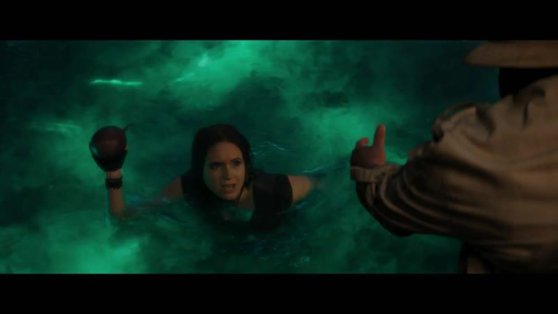 Джуманджи Новый уровень Марта и Фридж достают плод Джуманджи Эдди проверяет бойцовские навыки Брэйвстоуна