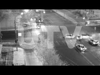 Массовая авария на перекрестке в центре Уфы