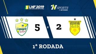 LNF2019 - Gols - 1r - Copagril 5 x 2 Assoeva