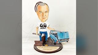 Подарок мужу автомобилисту - механику   Демонстрация Кукла Удачи - подарок ручной работы из дерева