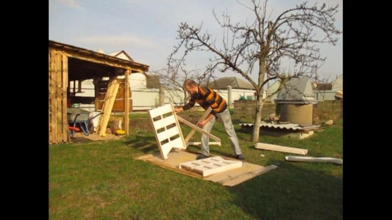 ПОказ работы инвентарного строительного стола