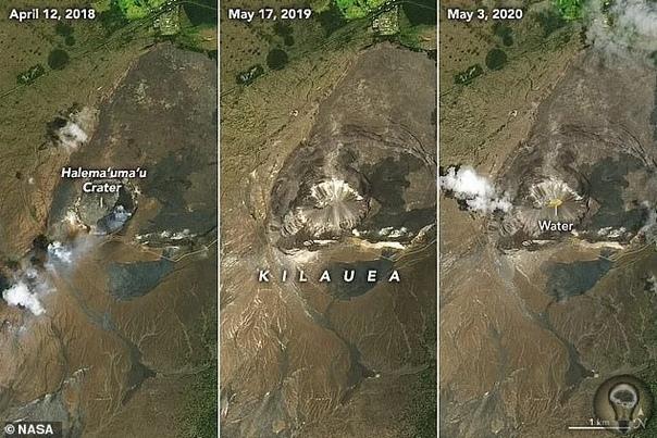 На Гавайях обнаружено озеро с температурой воды 80°С