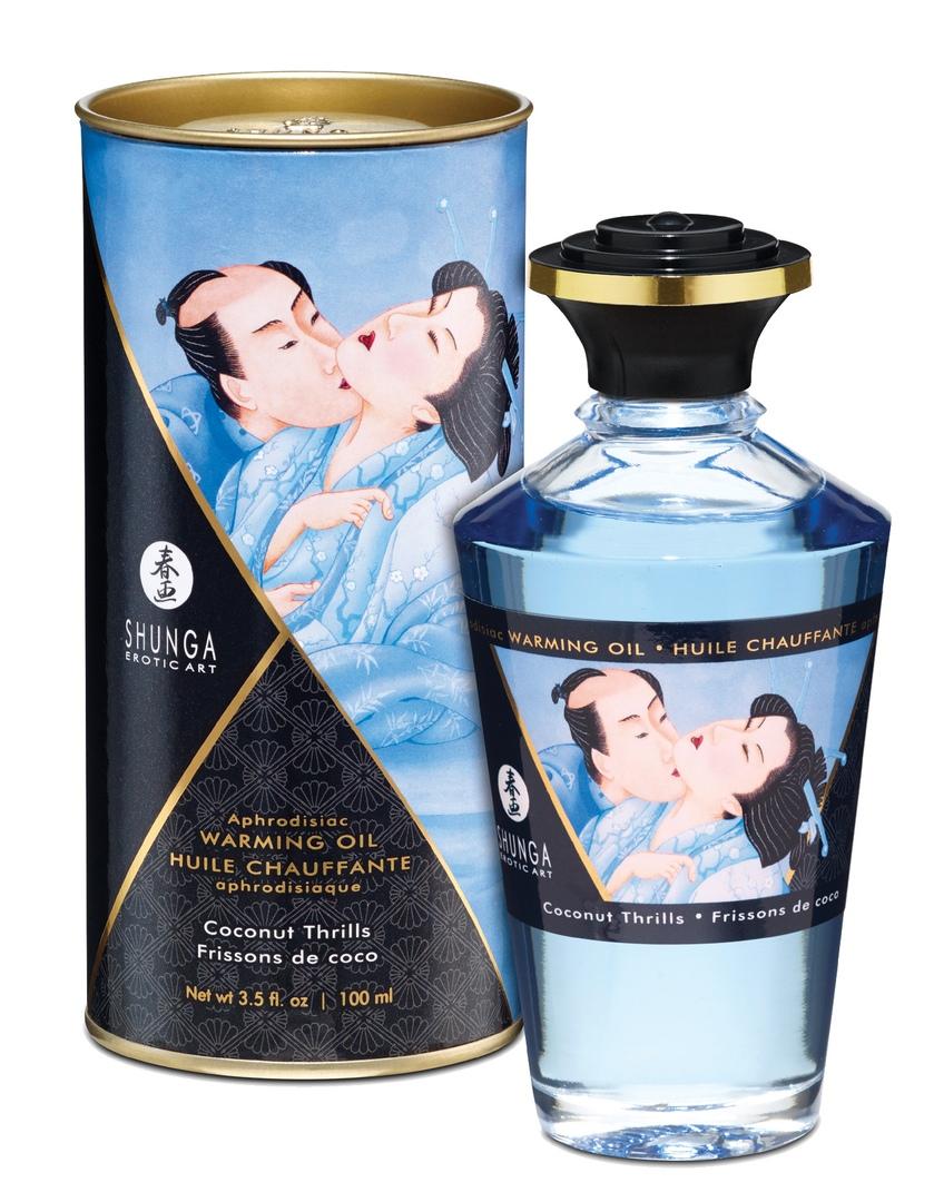 Интимное массажное масло Shunga с разогревающим эффектом