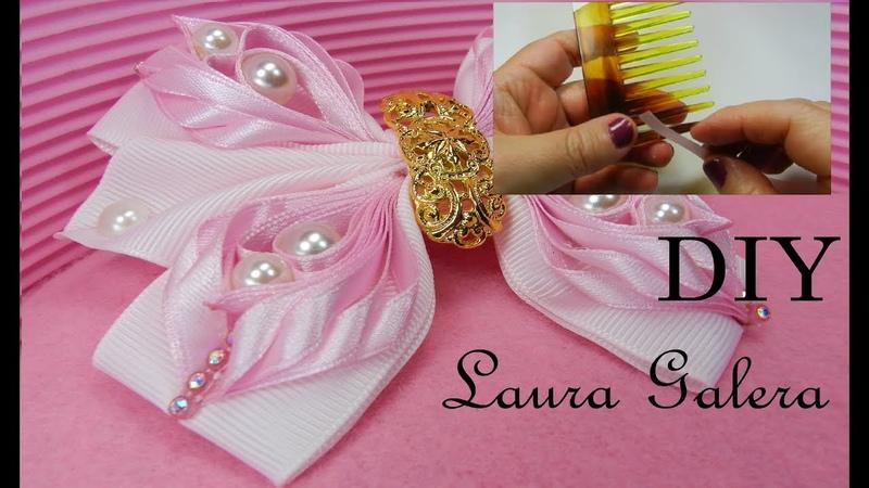 Trabaja con el peine y las cintas Work with the comb and ribbons Trabalhar com o pente