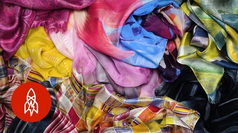 The Japanese Art of Silk Marbling Used by Hermès