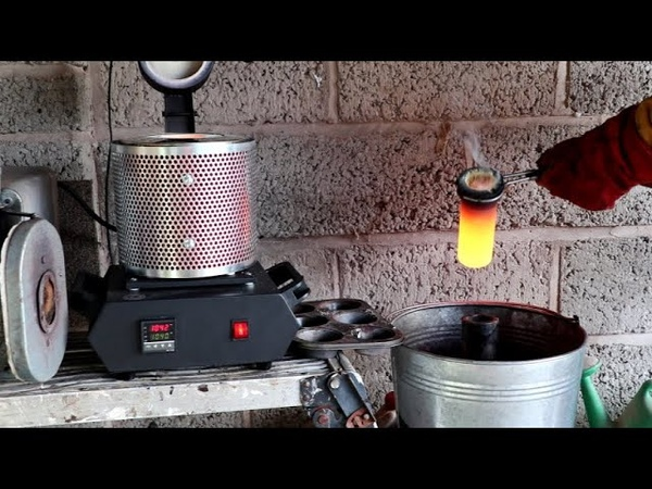 Metalcasting at Home Part 105 Electric Furnace Lost Polycast Mould Lamppost Engine