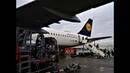 Посадка во Франкфурте А321 Lufthansa