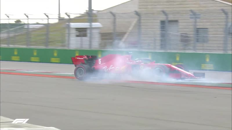 Авария Феттеля в квалификации Гран при России