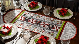 How to Make a Table Runner Using a Border Stripe + Free Pattern | a Shabby Fabrics Quilting Tutorial