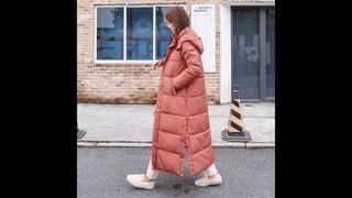 Женская куртка с капюшоном beieuces, длинная теплая парка с хлопковой подкладкой, зимняя верхняя одежда высокого качества