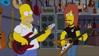 [simpsons] Homer learning rock and roll at rock and roll camp