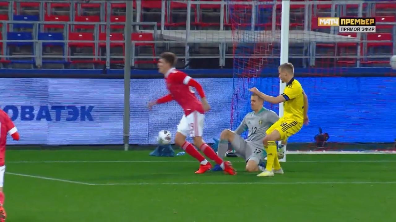 Россия - Швеция, 1:2. Симуляция Александра Соболева