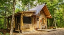 Screened Porch on the Log Cabin | Off Grid Sauna and Bathhouse