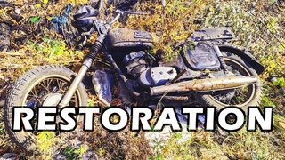 """Russian Jawa"" full RESTORATION from Trash to Hot Bike. Abandoned Motorcycle Restoration"