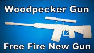 Origami Gun | How to Make a Paper Woodpecker Gun of Free Fire | Easy Origami ART Paper Crafts