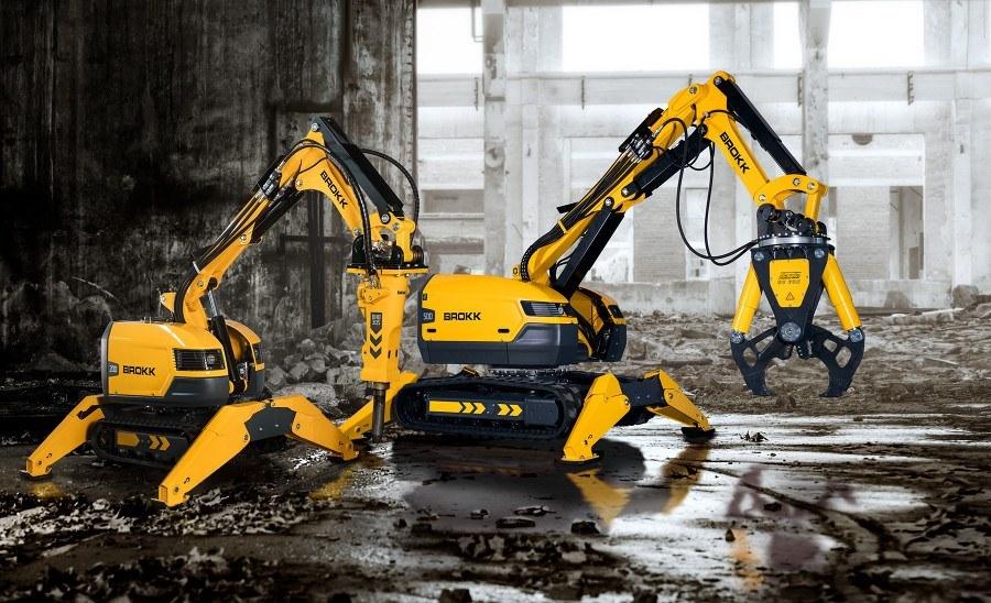 Роботы-манипуляторы Brokk для демонтажных работ любой сложности