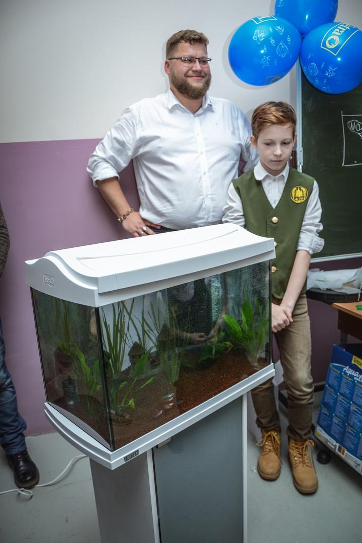 В Православной гимназии 03.12 прошел мастер класс по уходу за аквариумом с живыми растениями и рыбками!, изображение №19