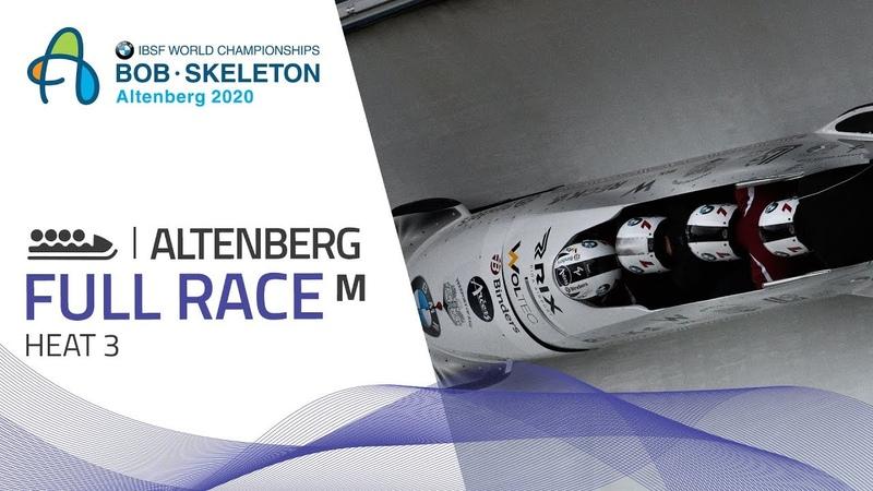 Altenberg BMW IBSF World Championships 2020 4 Man Bobsleigh Heat 3 IBSF Official