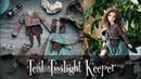 Teal Twilight Keeper - OOAK outfit for Minifee BJD doll